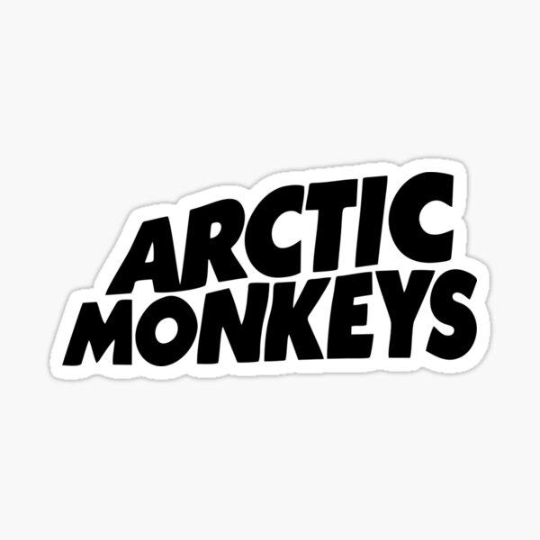 white black monkeys Sticker