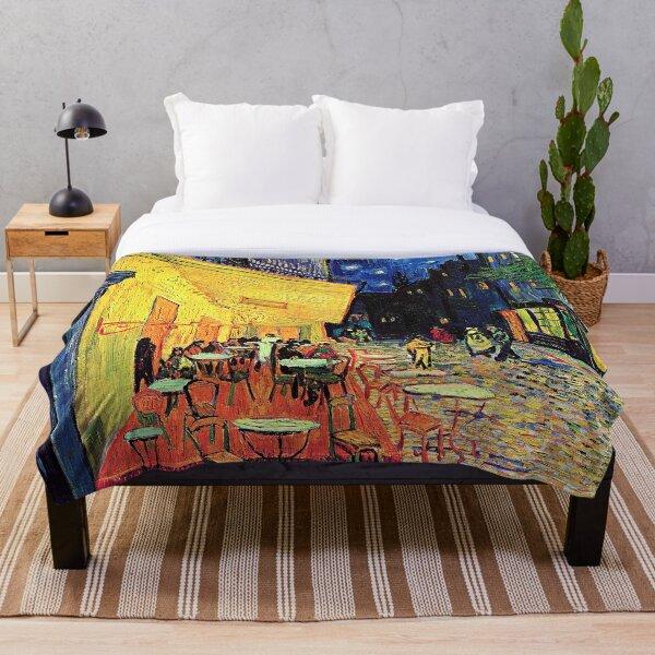 CAFE TERRACE AT NIGHT Van Gogh Best Original Painting Throw Blanket
