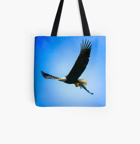 An Eagle's Dinner All Over Print Tote Bag