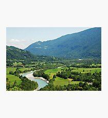 Soca Valley Near Kobarid Photographic Print