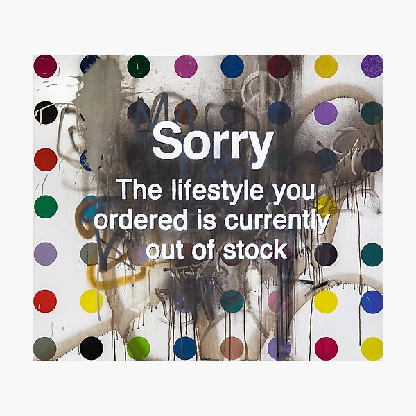 BANKSY DEFACED HIRST  Photographic Print