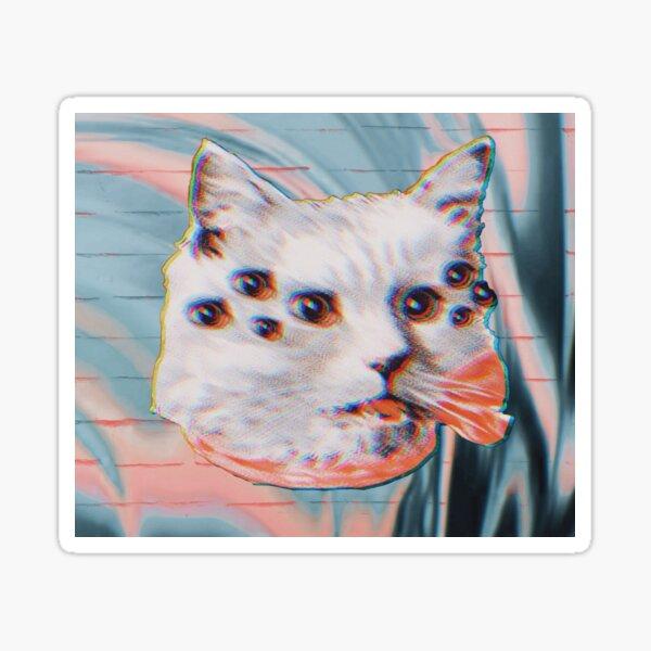 Glitchy Spider Cat Sticker