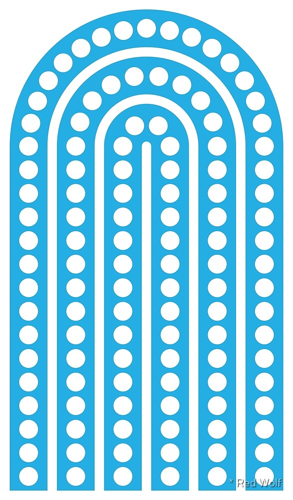 Geometric Pattern: Arch Dot: White/Blue by * Red Wolf