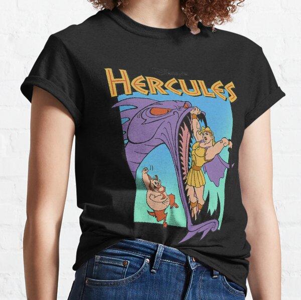 Disney Hercules Hydra Battle Retro Graphic T-Shirt Classic T-Shirt