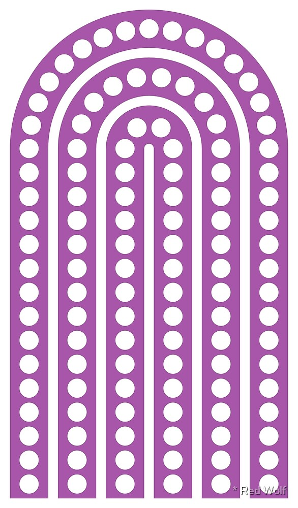 Geometric Pattern: Arch Dot: White/Purple by * Red Wolf