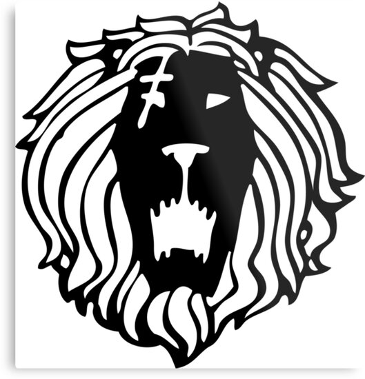 The Seven Deadly Sins The Lion Sin Of Pride Black Metal Prints