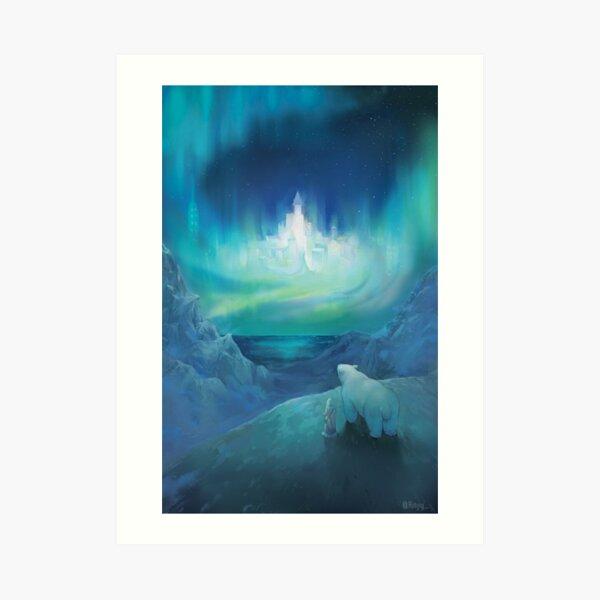 Polar bear His dark materials Art Print