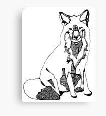 Fox by Alice Samways Canvas Print