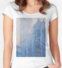 1894-Claude Monet-Rouen Cathedral Façade and Tour d'Albane (Morning Effect)-74 x 106 Women's Fitted Scoop T-Shirt