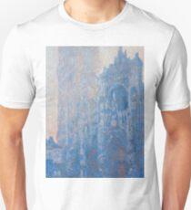 1894-Claude Monet-Rouen Cathedral Façade and Tour d'Albane (Morning Effect)-74 x 106 Unisex T-Shirt