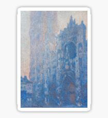 1894-Claude Monet-Rouen Cathedral Façade and Tour d'Albane (Morning Effect)-74 x 106 Sticker