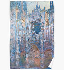 1894-Claude Monet-Rouen Cathedral, West Façade-65 x 100 Poster