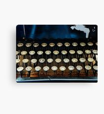 Antique Typewriter Keyboard Canvas Print