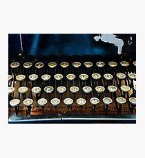 Antique Typewriter Keyboard Photographic Print