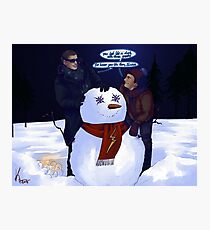 Do u wanna build a snowman Photographic Print