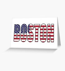 Boston. Greeting Card