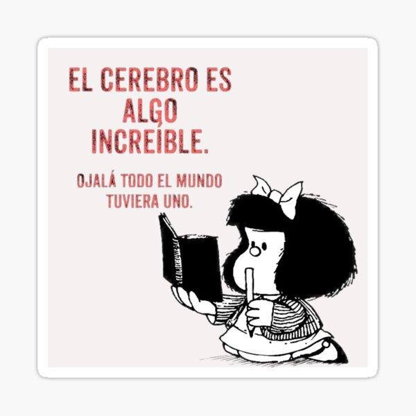 Mafalda cerebral Pegatina