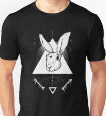 Lunar Hare Ink Illustration | Dark Version T-Shirt