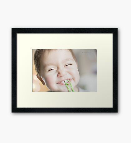 Happy Face Framed Print