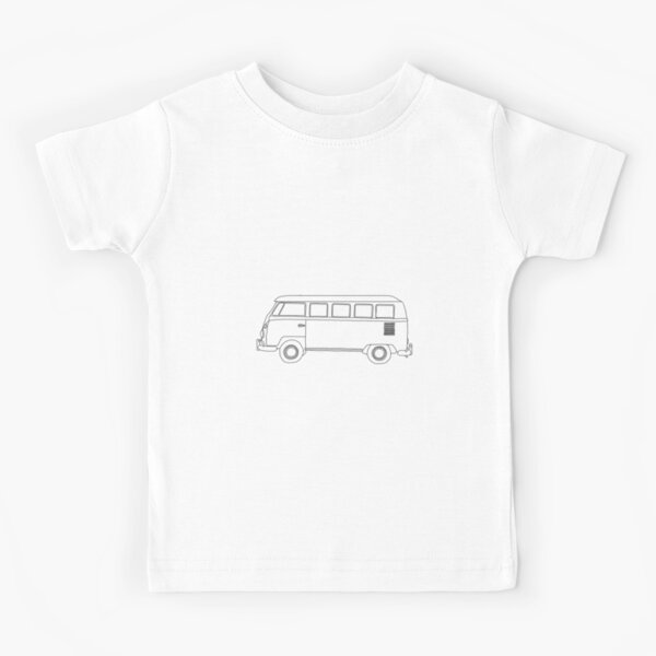 Camper Van KID/'S T-Shirt Pour Enfants Garçons Filles Unisexe Top