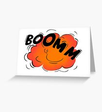 Explosion Bomb Greeting Card
