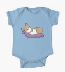 Sleeping Corgi One Piece - Short Sleeve