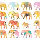Floral Elephants by Ray Shuell