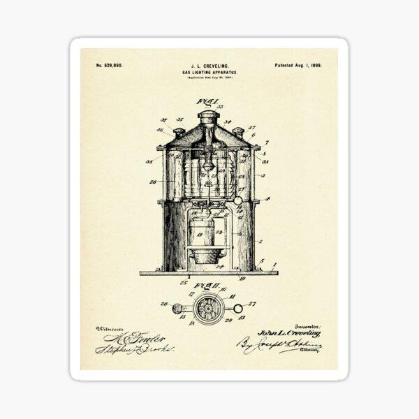 Gas Lighting Apparatus-1899 Sticker