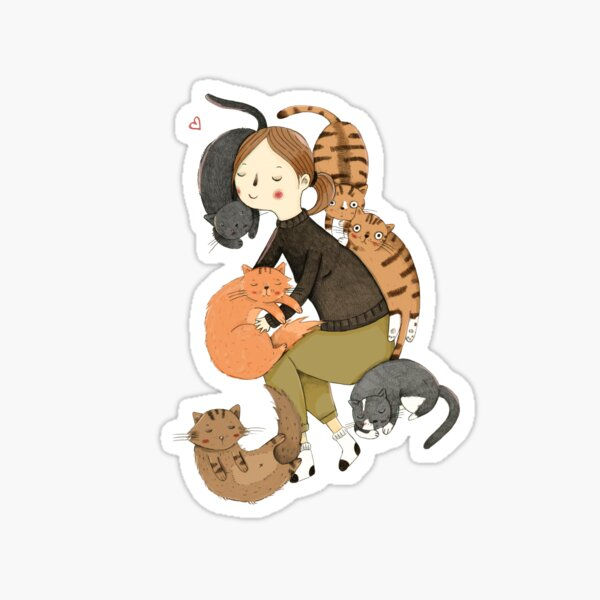 Cat Love Sticker
