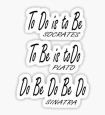Do be Do be Do, Greek version, MUSIC, Frank Sinatra Lyrics Sticker