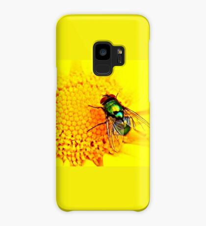 Green Bottle Fly on Yellow Flower Case/Skin for Samsung Galaxy