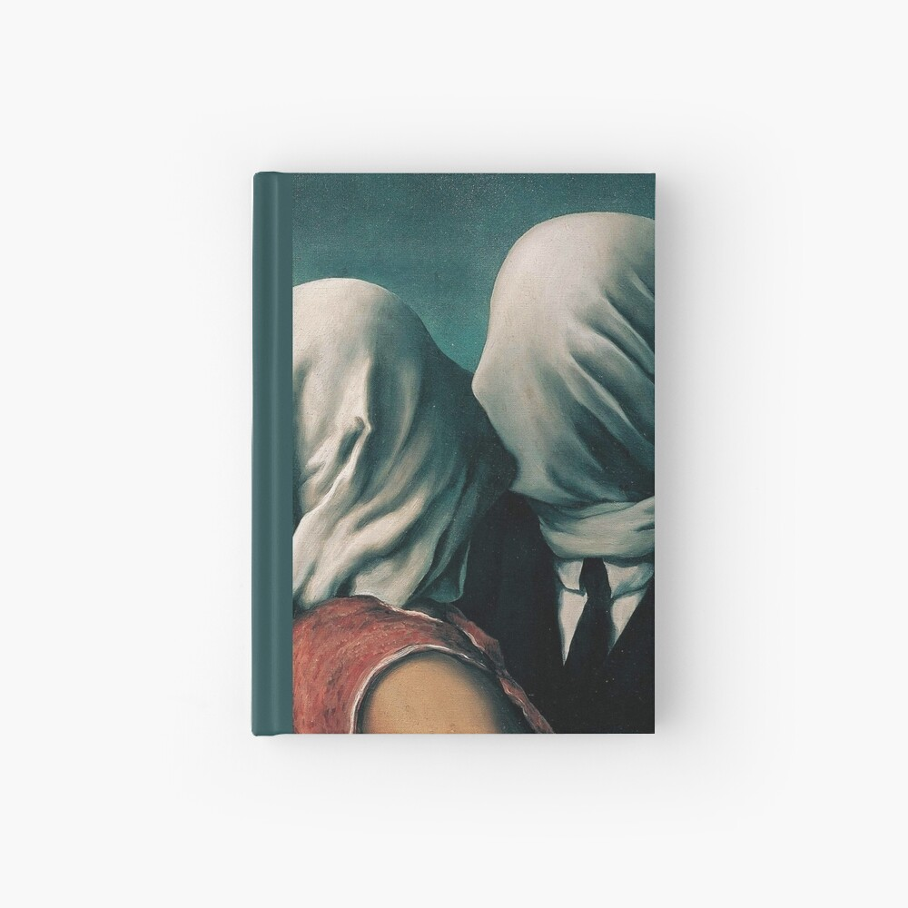 Rene Magritte The Lovers  Hardcover Journal