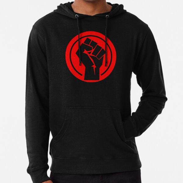Red Socialist Fist Lightweight Hoodie