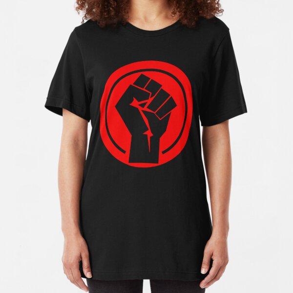 Red Socialist Fist Slim Fit T-Shirt