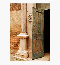 Old Church Door in Murano Photographic Print