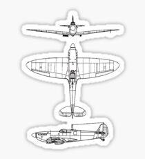 Supermarine, Spitfire, Supermarine, Spitfire, Fighter, WWII, 1942, Fighter, WWII, 1942, Sticker