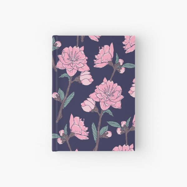 Blooming Garden Flowers  Hardcover Journal