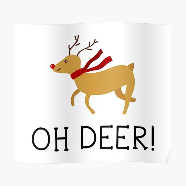 Funny deer Poster