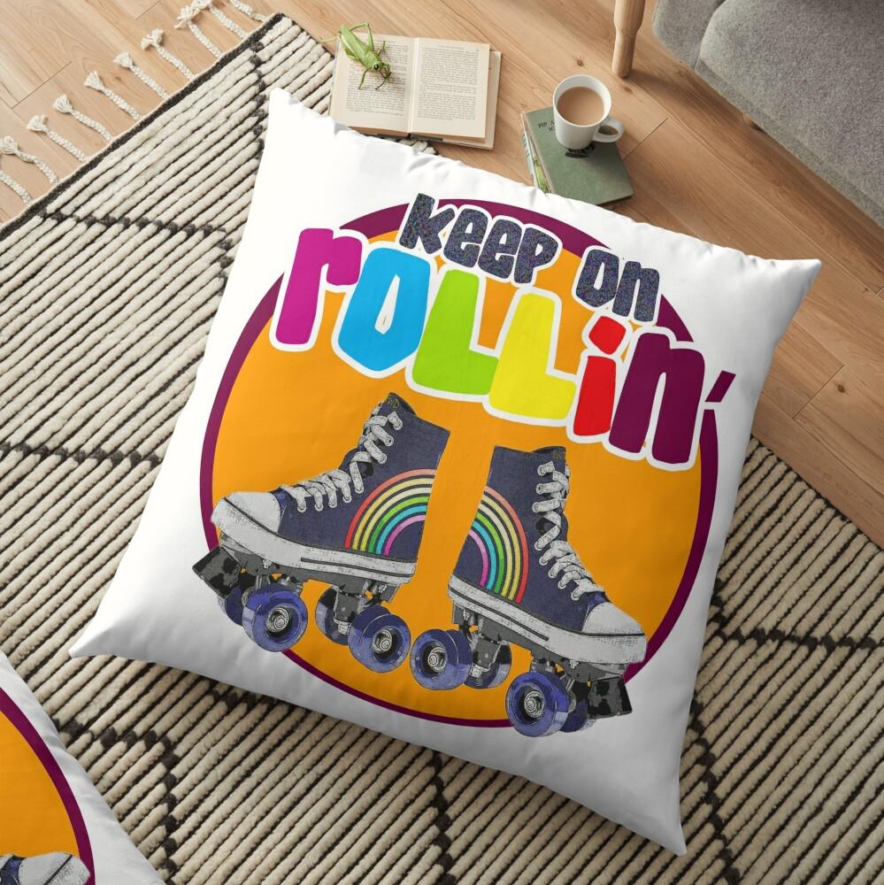 Keep on Rollin' Floor Pillow