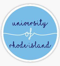 University of Rhode Island Circle 1 Sticker