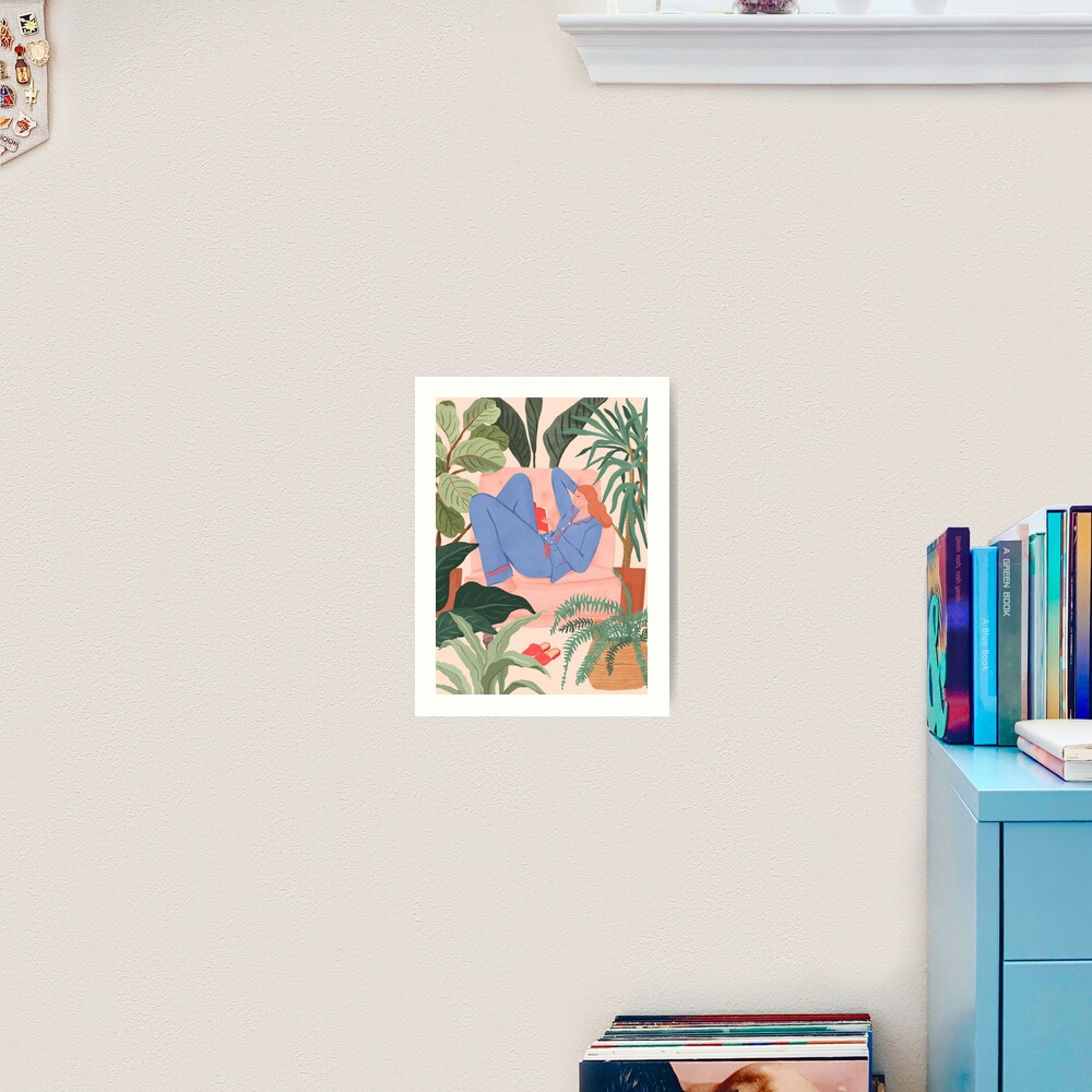 Reading with The Plants Art Print
