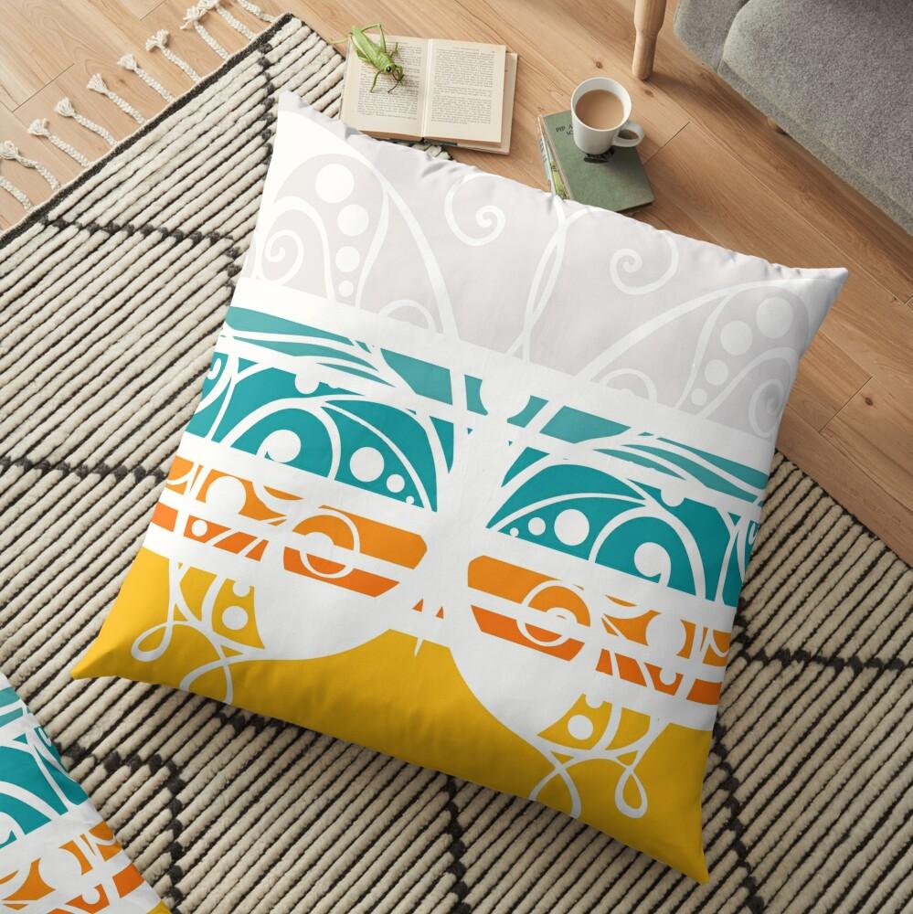 Butterfly Brilliance Floor Pillow