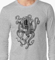 Octopus Scuba Diver Helm Langarmshirt