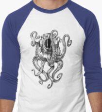 Octopus Scuba Diver Helmet Men's Baseball ¾ T-Shirt