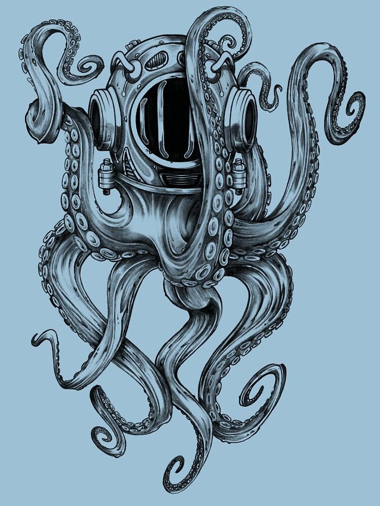 Octopus Scuba Diver Helmet by BertramSales