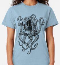 Camiseta clásica Casco de buceo Octopus Scuba Diver