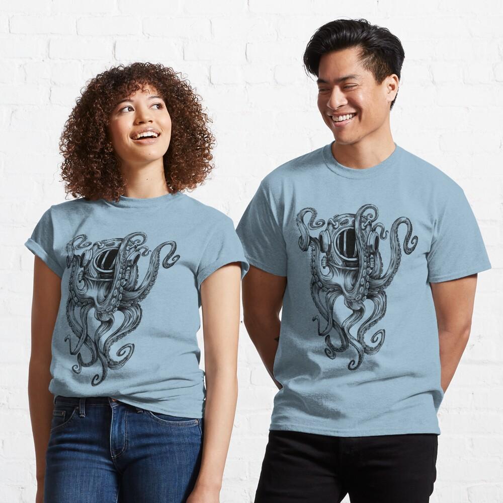 Octopus Scuba Diver Helmet Classic T-Shirt