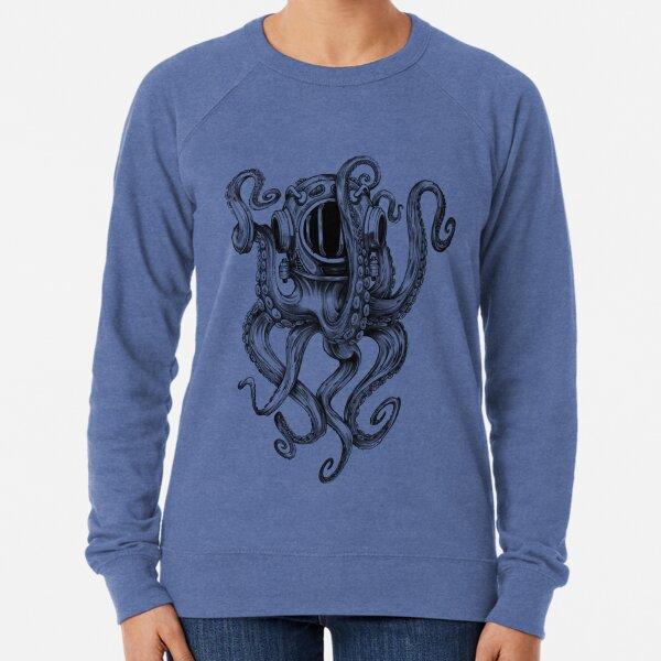 Octopus Scuba Diver Helmet Lightweight Sweatshirt