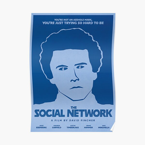 The Social Network - Minimalist Film Poster Poster