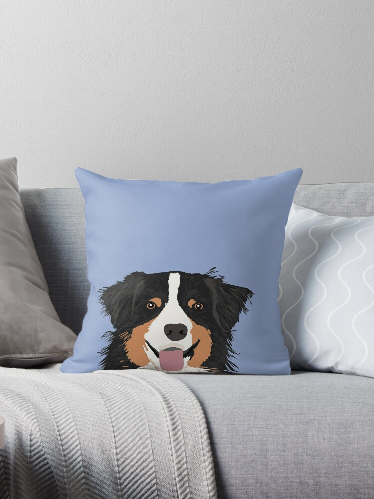Australian Shepherd dog art customized pet portrait for aussie owners cute dog gift for dog person  by PetFriendly